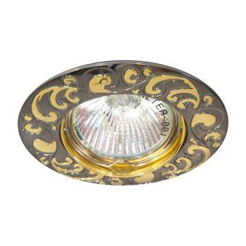 Встраиваемый светильник Feron DL2005 золото/чёрный металлик
