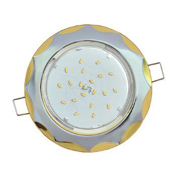Встраиваемый светильник Ecola GX53 H4 Звезда хром-золото FE81H4ECB