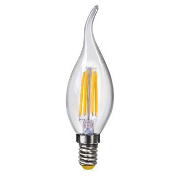 Лампа светодиодная Voltega Crystal LED Свеча на ветру 4W E14 2800K