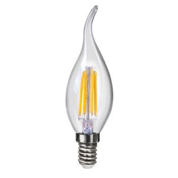 Лампа светодиодная Voltega Crystal LED Свеча на ветру 4W E14 4000K