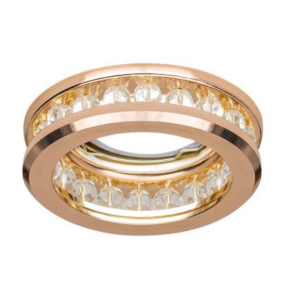 Встраиваемый светильник Gauss Brilliance CR049 золото/кристалл