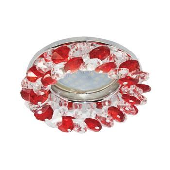 Встраиваемый светильник Ecola MR16 CD4141 GU5.3 хром/прозрачный/рубин FR1618EFY