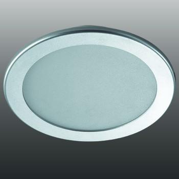 Встраиваемый светильник Novotech Luna 18W 3000K серый 357178
