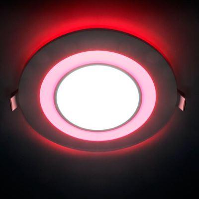 Встраиваемый светильник Feron AL2550 8W 4000K/красная подсветка