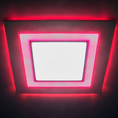 Встраиваемый светильник Feron AL2551 8W 4000K/красная подсветка