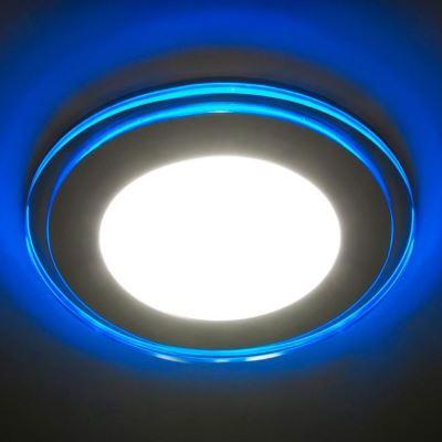 Встраиваемый светильник Feron AL2660 8W 4000K/синяя подсветка