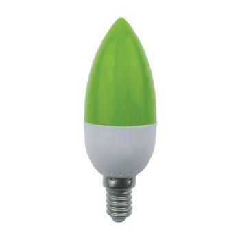 Лампа светодиодная Ecola Candle LED Color 2.6W E14 Green C4TG26ELB