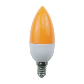 Лампа светодиодная Ecola Candle LED Color 2.6W E14 Yellow C4TY26ELB