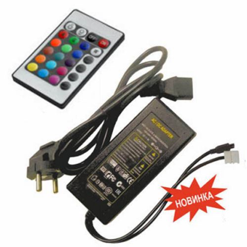 Контроллер Ecola LED strip RGB IR controller моноблок с блоком питания  72W 12V 6A CRM072ESB