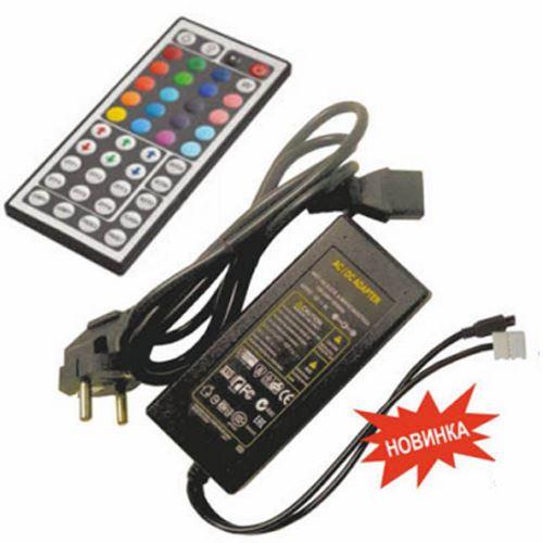 Контроллер Ecola LED strip RGB IR controller моноблок с блоком питания  72W 12V 6A  CRN072ESB