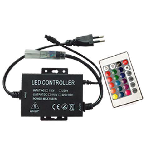 Контроллер Ecola LED strip 220V RGB IR controller (IP20) 1500W 6,6A для ленты 220V 16x8 IP68 с инфракрасным пультом CRS615ESB