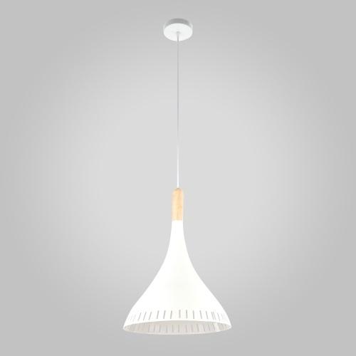 Подвесной светильник Eurosvet Пинеро 50074/1 белый/светлое дерево