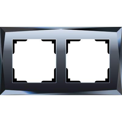 Рамка Werkel Diamant 2 поста черный WL08-Frame-02