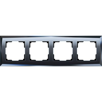 Рамка Werkel Diamant 4 поста черный WL08-Frame-04