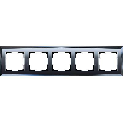 Рамка Werkel Diamant 5 постов черный WL08-Frame-05