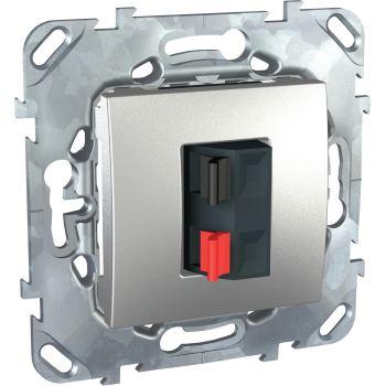 Аудиорозетка Schneider Electric Unica Top алюминий MGU5.486.30ZD