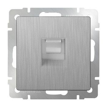 Компьютерная розетка Ethernet RJ-45 Werkel серебряный рифленый WL09-RJ-45