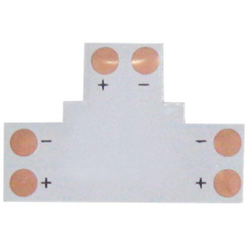 Ecola LED strip connector гибкая соед. плата T для зажимного разъема 2-х конт. 10 mm SC21FTESB