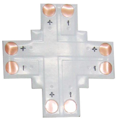 Ecola LED strip connector гибкая соед. плата X для зажимного разъема 2-х конт. 10 mm SC21FXESB