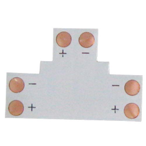Ecola LED strip connector гибкая соед. плата T для зажимного разъема 2-х конт.  8 mm уп SC28FTESB