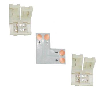 Коннектор для светодиодной ленты 2835/3528 Ecola LED Strip Connector жесткий L SC28ULESB