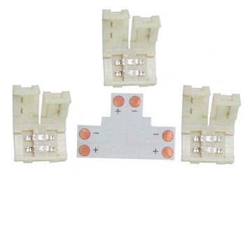 Коннектор для светодиодной ленты 2835/3528 Ecola LED Strip Connector жесткий T SC28UTESB