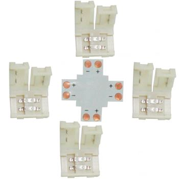 Коннектор для светодиодной ленты 2835/3528 Ecola LED Strip Connector жесткий X SC28UXESB