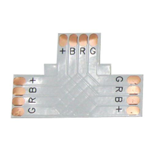 Ecola LED strip connector гибкая соед. плата T для зажимного разъема 4-х конт. 10 mm SC41FTESB