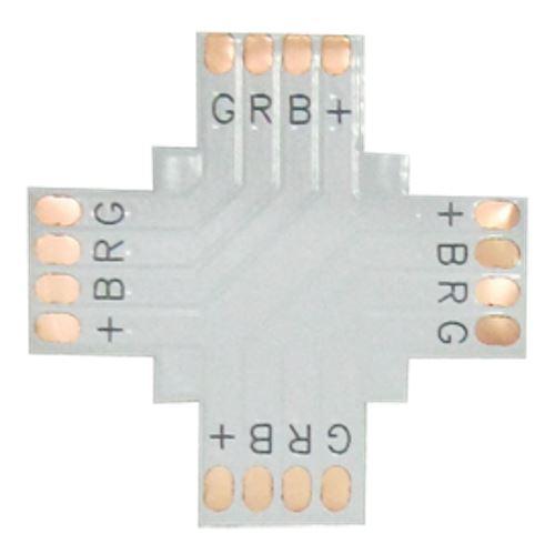 Ecola LED strip connector гибкая соед. плата X для зажимного разъема 4-х конт. 10 mm SC41FXESB
