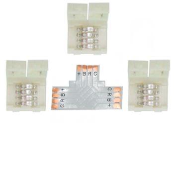 Коннектор для светодиодной ленты RGB Ecola LED Strip Connector жесткий T SC41UTESB