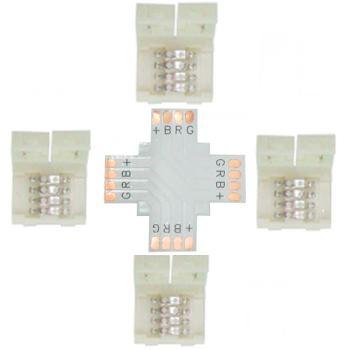 Коннектор для светодиодной ленты RGB Ecola LED Strip Connector жесткий X SC41UXESB