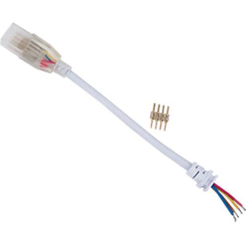 Ecola LED strip 220V connector кабель RGB 150мм с муфтой и разъемом IP68 для ленты RGB 14x7 SCJM14ESB