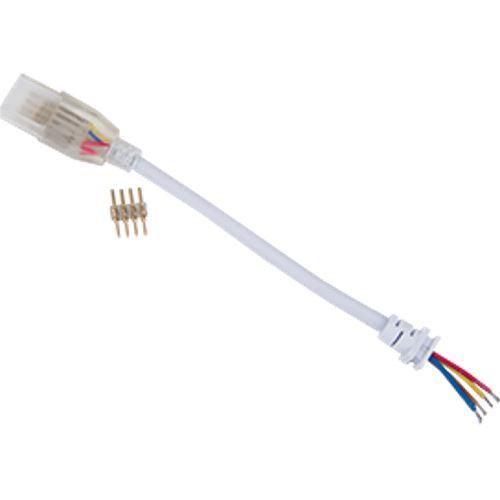 Ecola LED strip 220V connector кабель RGB 150мм с муфтой и разъемом IP68 для ленты RGB 16x8 SCJM16ESB