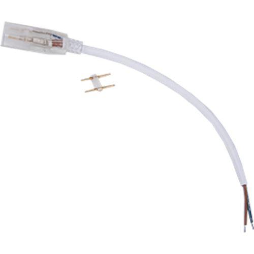 Ecola LED strip 220V connector кабель питания 150мм с муфтой и разъемом IP68 для ленты 12x7 SCJN12ESB