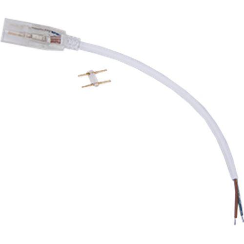 Ecola LED strip 220V connector кабель питания 150мм с муфтой и разъемом IP68 для ленты 14x7 SCJN14ESB