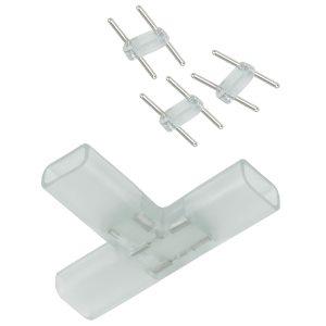 Переходник для ленты Т образный 220V 5050 Ecola LED strip 220V SCTN14ESB