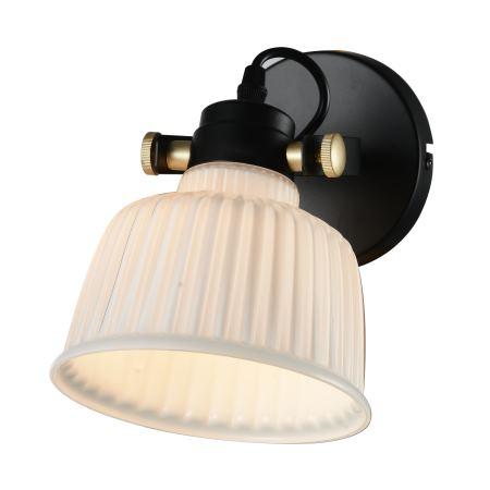 Бра ST Luce Aletante черный с золотом/белый SL714.401.01