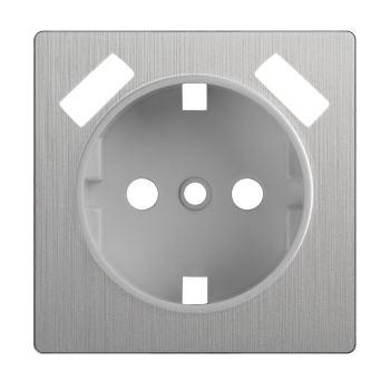 Накладка для USB розетки Werkel cеребряный рифленый WL09-USB-CP