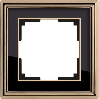 Рамка Werkel Palacio 1 пост золото/черный WL17-Frame-01