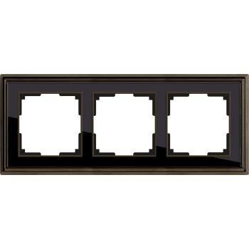 Рамка Werkel Palacio 3 поста бронза/черный WL17-Frame-03