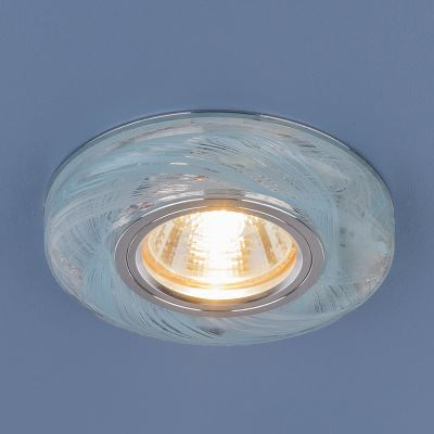 Встраиваемый светильник Elektrostandard 2191 MR16 CL/BL прозрачный/голубой