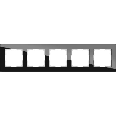 Рамка Werkel Favorit 5 постов черный WL01-Frame-05