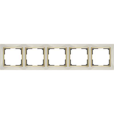 Рамка Werkel Snabb 4 поста слоновая кость/золото WL03-Frame-04-ivory-GD