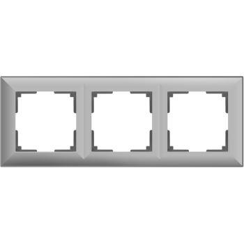Рамка Werkel Fiore 3 поста серебряный WL14-Frame-03